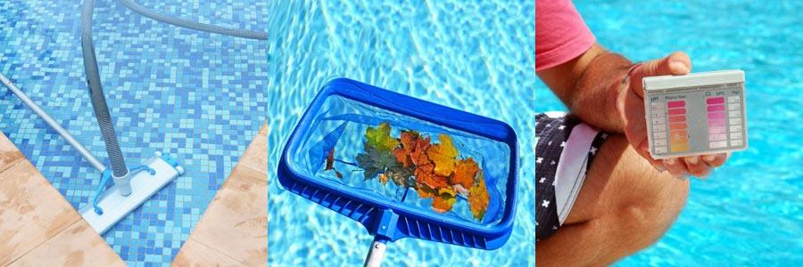 Recogehojas para piscina